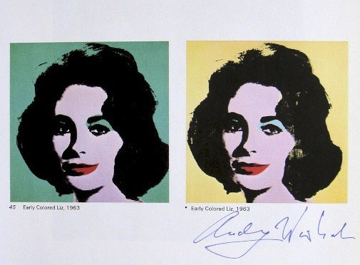 Andy Warhol, signed Print, Early Colored Liz, 1976