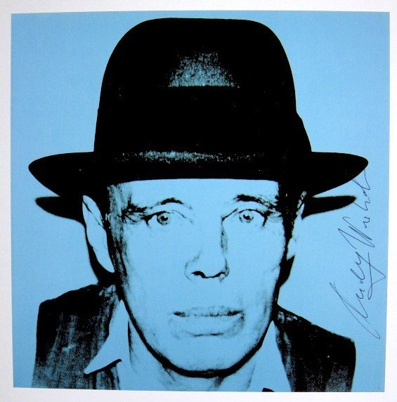 Andy Warhol, signed Print, Joseph Beuys, 1986
