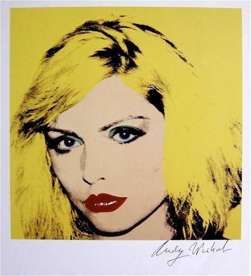 Andy Warhol, signed Print, Debbie Harry, 1986