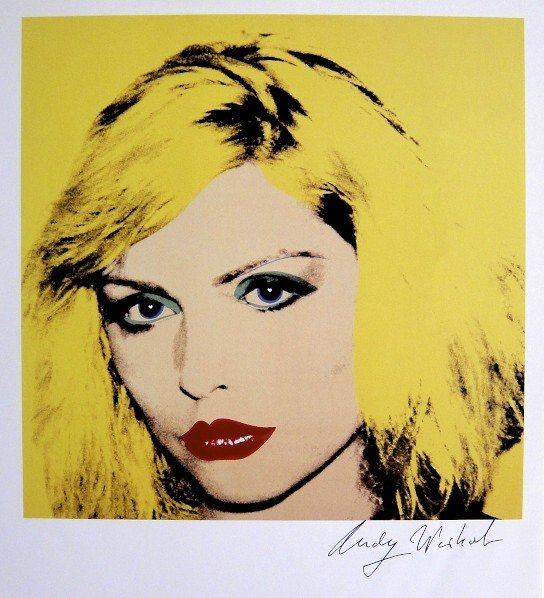 Andy Warhol, signed Print, Debbie Harry, 1986