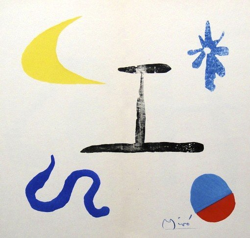 JOAN MIRO, signed Lithograph, 1958