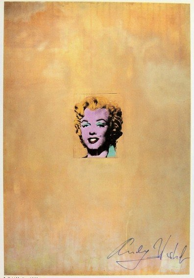Andy Warhol, signed Print, Gold Marilyn, 1976