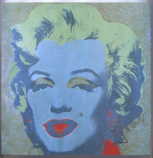 "ANDY WARHOL, Signed Print ""Marilyn Monroe"" 1982"