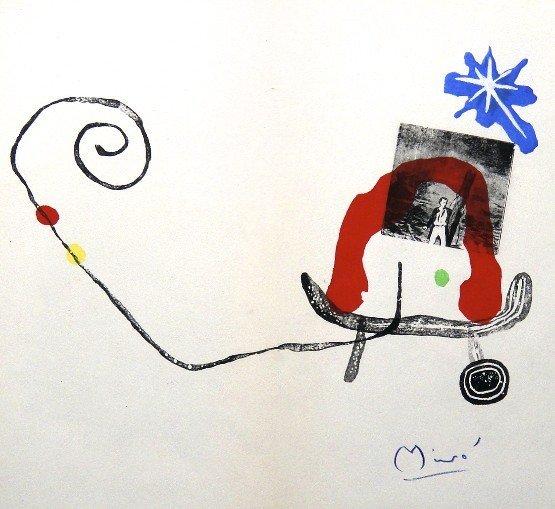 JOAN MIRO, signed Lithograph, 1958