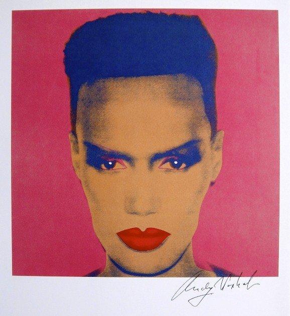 Andy Warhol, signed Print, Grace Jones, 1986