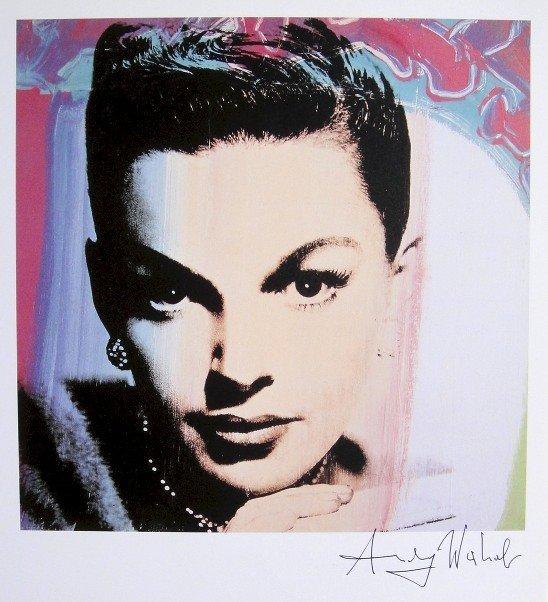 Andy Warhol, signed Print, Judy Garland, 1986