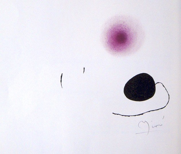 Joan MIRO, hand signed original Lithograph, 1971