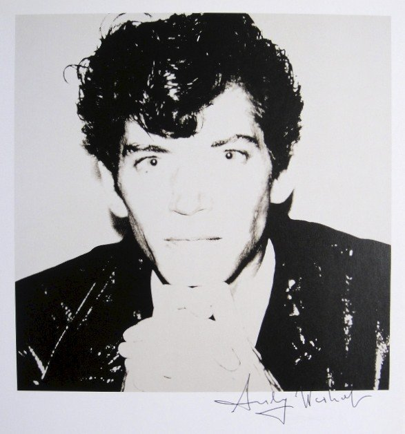 Andy Warhol, signed Print, Robert Mapplethorpe, 1986