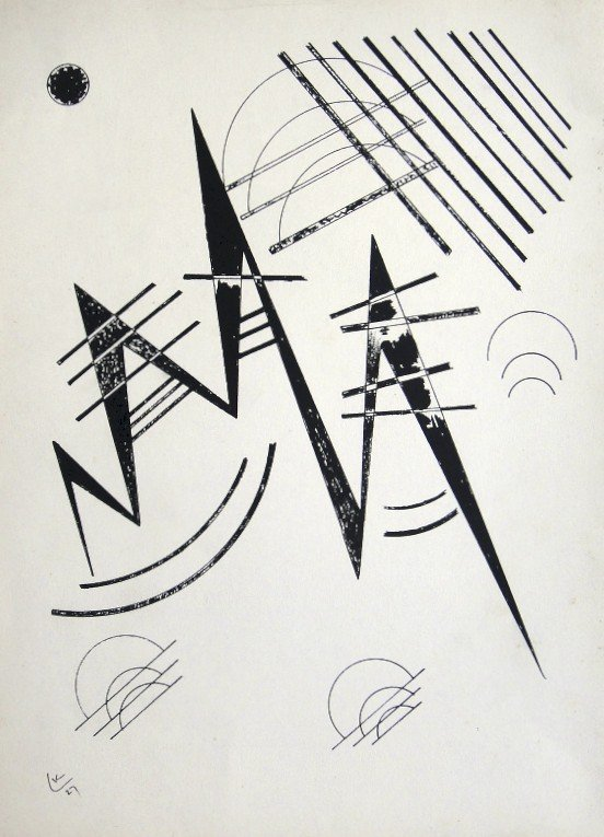 Wassily Kandinsky, original Lithograph, 1960