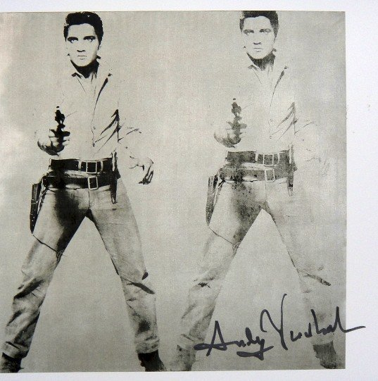 Andy Warhol, signed Print, Double Elvis, 1986