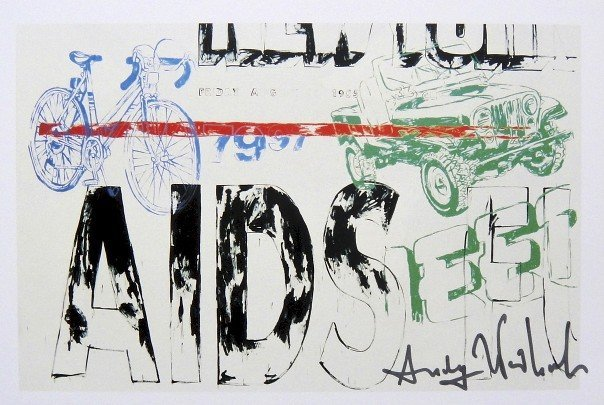 Andy Warhol, signed Print, Aids - Jeep, 1986