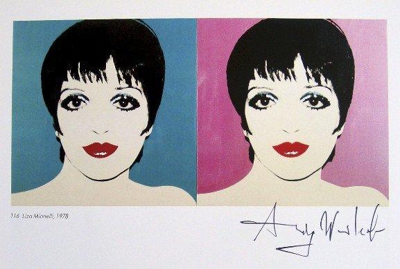 Andy Warhol, signed Print, Liza Minnelli, 1986