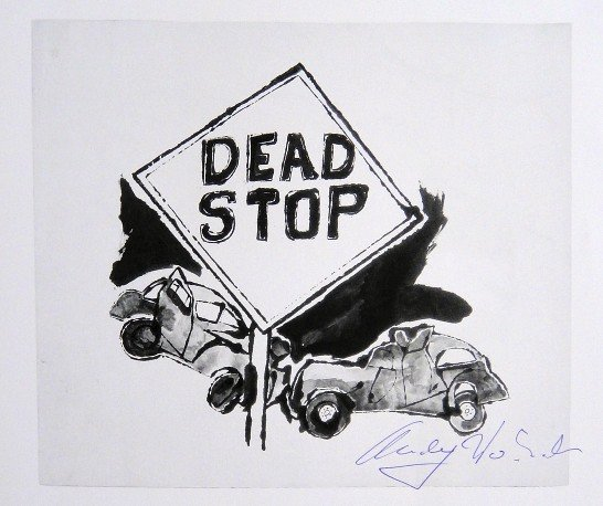 Andy Warhol, signed Print, Dead Stop, 1986