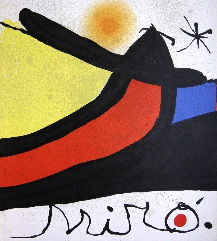 Joan MIRO, hand signed original Lithograph, 1971
