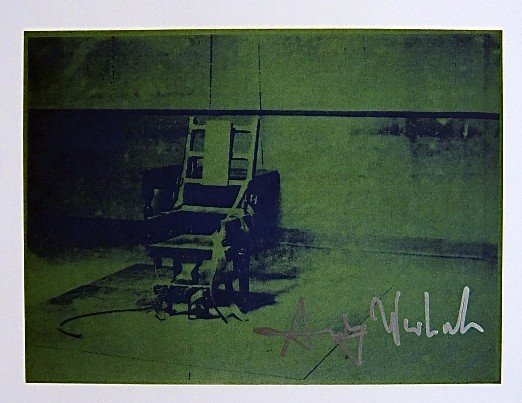Andy Warhol, signed Print, Big Electric Chair, 1986