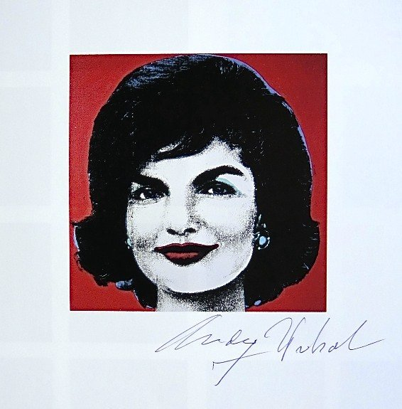 Andy Warhol, signed Print, Red Jackie, 1986