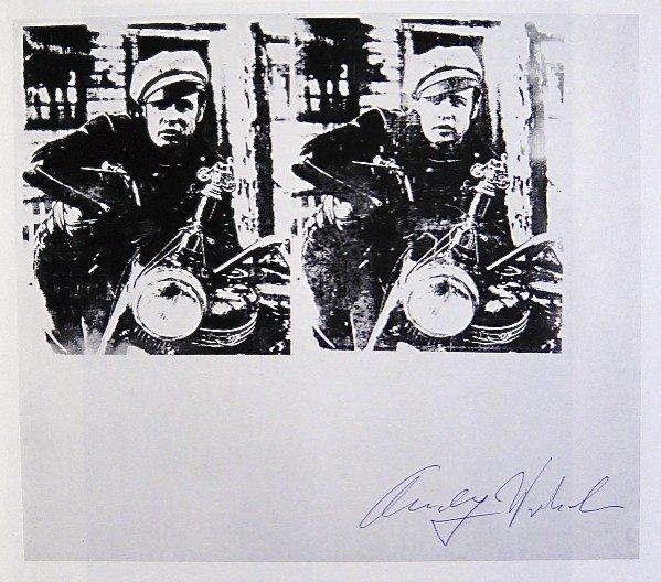 Andy Warhol, signed Print, Silver Marlon, 1986