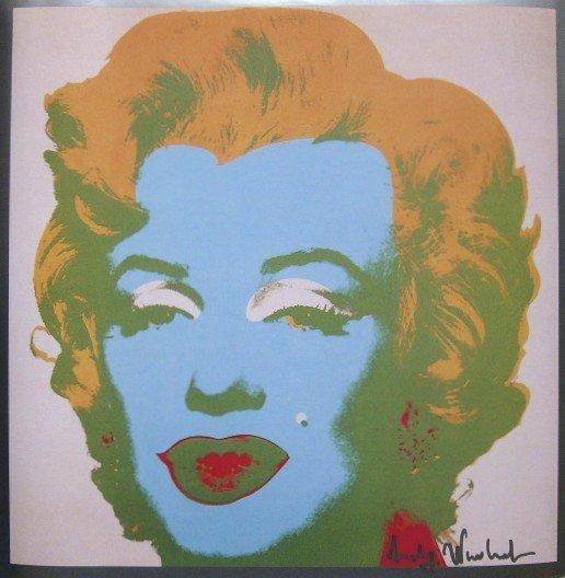 ANDY WARHOL, Signed Print Marilyn Monroe, 1982
