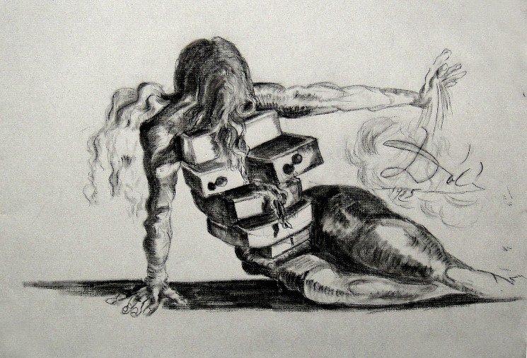 Salvador Dali The fallen Angel, 1935