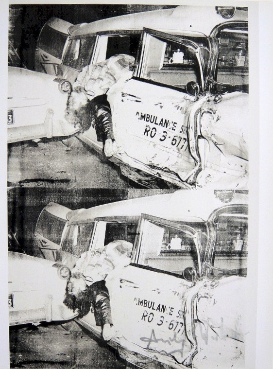 Andy Warhol, signed Print, Ambulance Disaster, 1986
