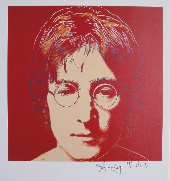 Andy Warhol, signed Print, John Lennon, 1986