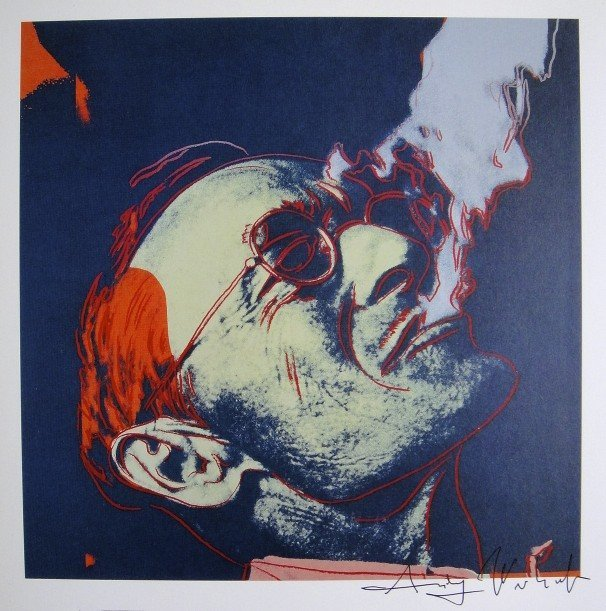 Andy Warhol, signed Print, Hermann Hesse, 1986