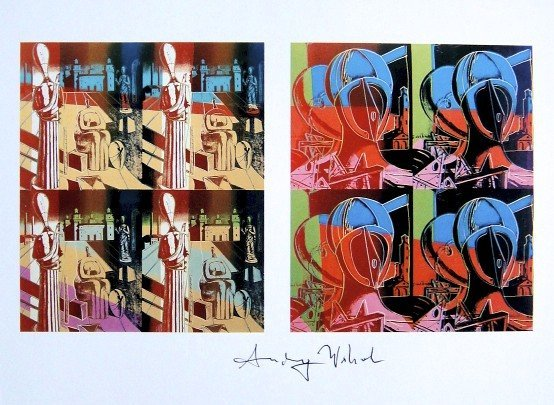 Andy Warhol, signed Print, After de Chirico, 1986