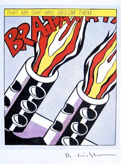 Roy LICHTENSTEIN, signed Print, BRATATAT, 1984