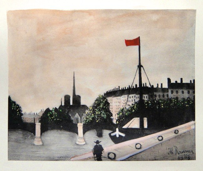 Henri ROUSSEAU hand colored Lithograph 1927