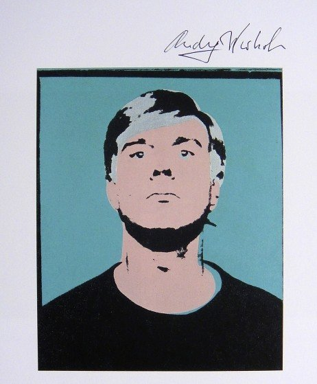 Andy Warhol, signed Print, Self-Portrait, 1986