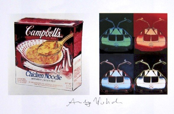 Andy Warhol, signed Print, Campbell's Soup Box ... ,