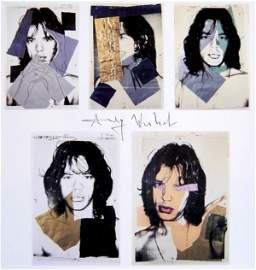 Andy Warhol, signed Print, Mick Jagger, 1986
