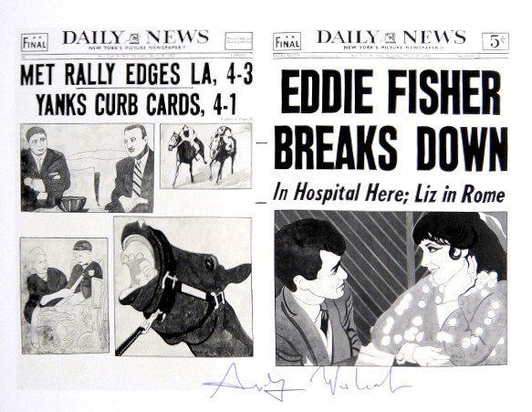 Andy Warhol, signed Print, Daily News, 1986