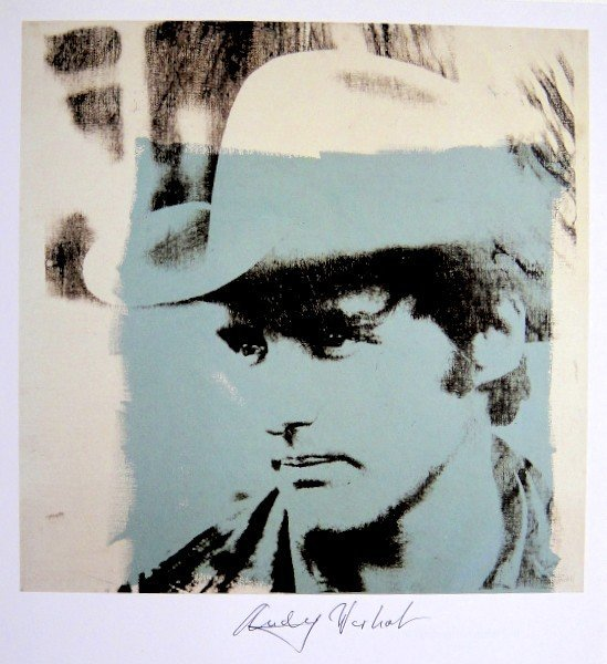 Andy Warhol, signed Print, Philip Johnson, 1986