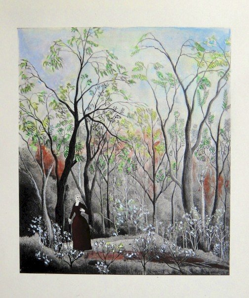 Henri ROUSSEAU hand colored Lithograph 1927