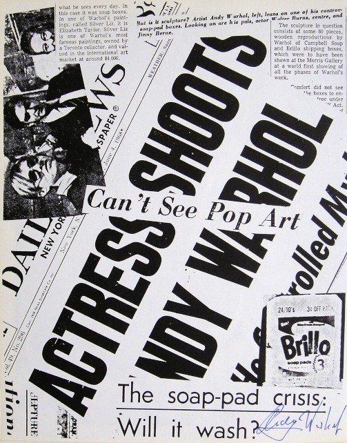 Andy Warhol, signed Print, Jackie, 1986