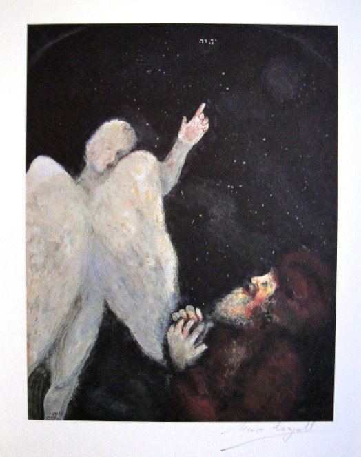 MARC CHAGALL, signed offset lithograph 1975