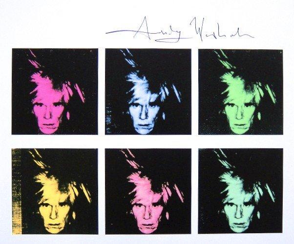 Andy Warhol, signed Print, Six Self-Portraits, 1986