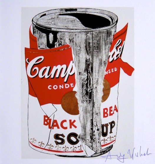 Andy Warhol, signed Print, Big Torn Campbell's Soup