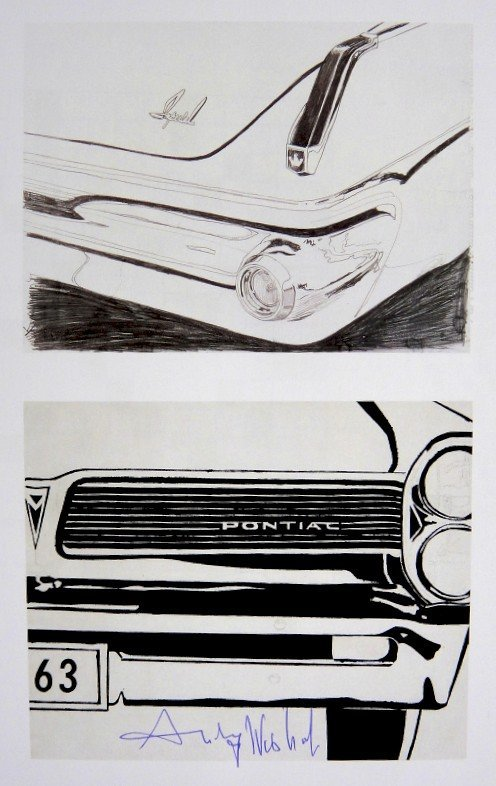 Andy Warhol, signed Print, Imperial Car Detail -
