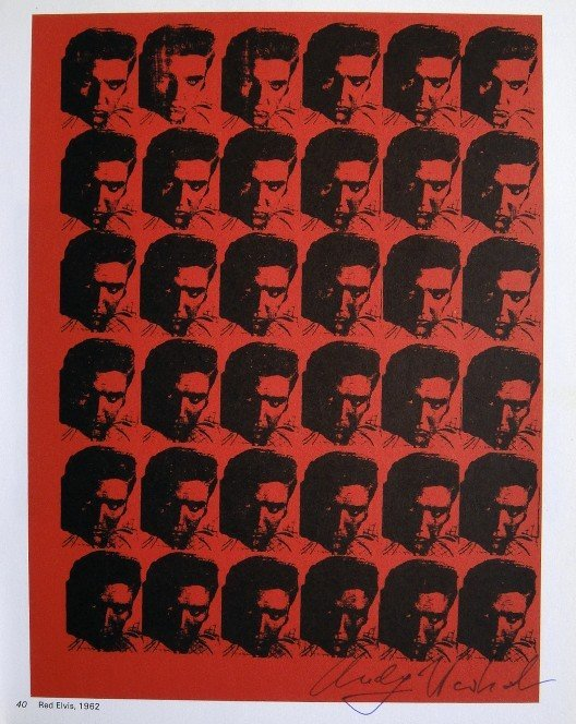 Andy Warhol, signed Print, Red Elvis, 1976