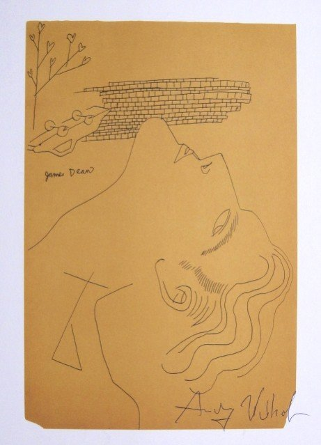Andy Warhol, signed Print, James Dean, 1986