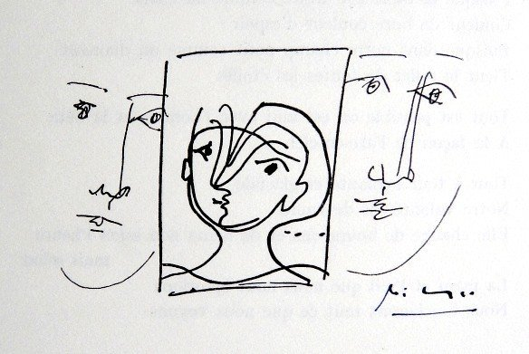 Pablo PICASSO, hand signed Lithograph, 1944