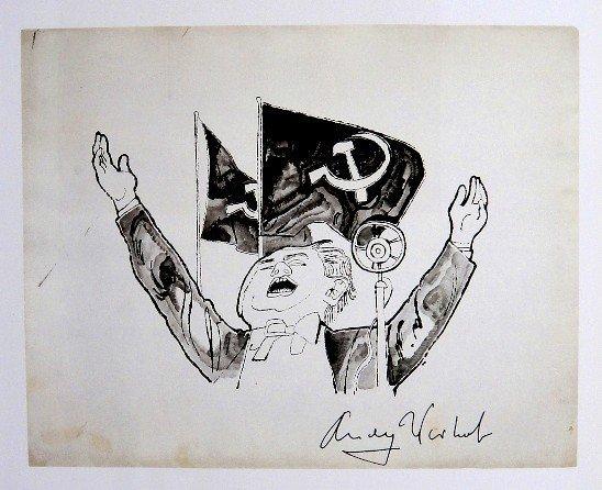 Andy Warhol, signed Print, Communist Speaker, 1986