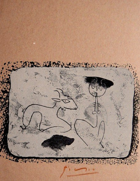 Pablo PICASSO, hand signed rare Lithograph, 1956