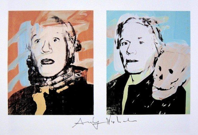 Andy Warhol, signed Print, Self-Portraits, 1986