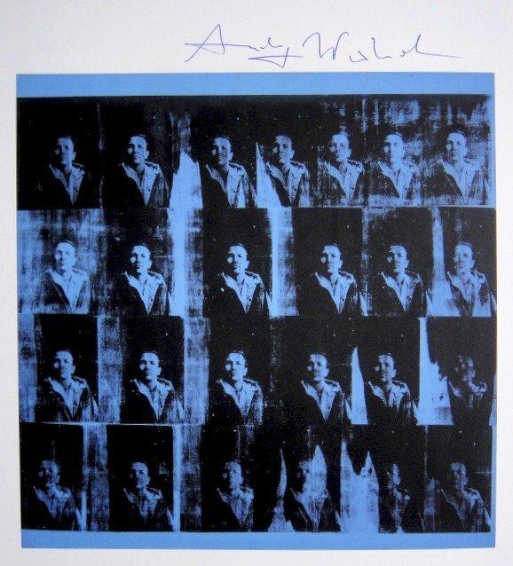 Andy Warhol, signed Print, Texan - Robert Rauschenberg,