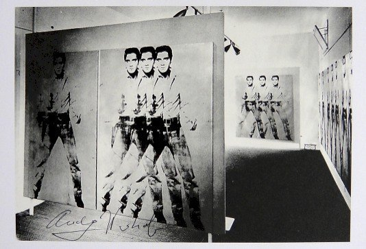 Andy Warhol, signed Print, First exhibition of Elvis,