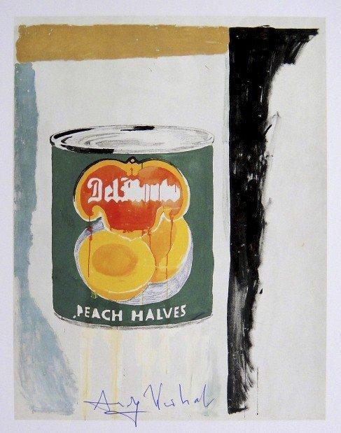 Andy Warhol, signed Print, Peach Halves, 1986