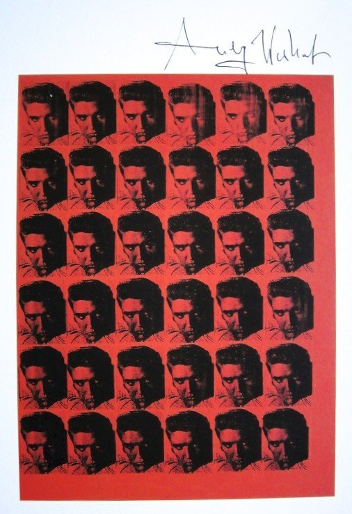 Andy Warhol, signed Print, Red Elvis, 1986